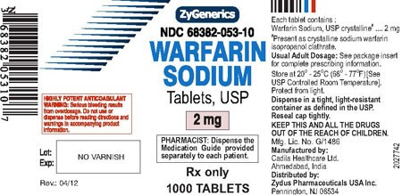 Warfarin recalled due to oversized tablets