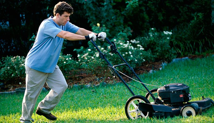 A lawn-mowing accident requires neurosurgery