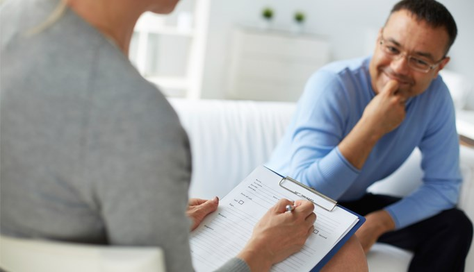 A primary-care provider provides behavioral counseling to a high-risk patient