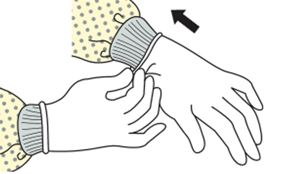 how to put on sterile gloves with gown
