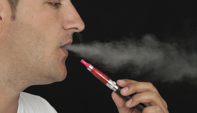 E-cigarette vapor contains high levels of formaldehyde