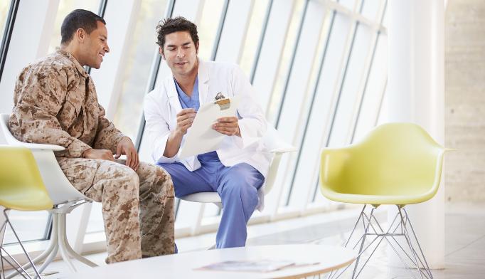 Possible traumatic brain injury in a veteran