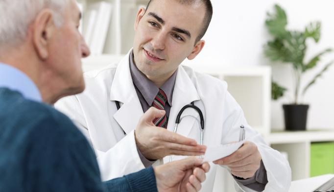 Male with symptomatic benign prostatic hyperplasia