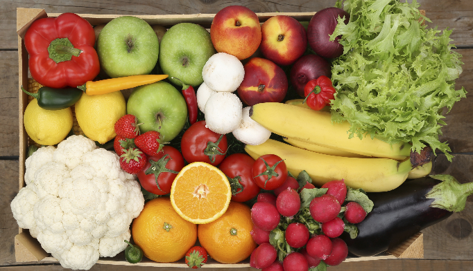 Fruit and veggie intake associated with