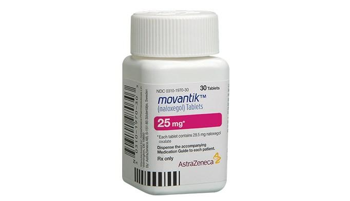 Naloxegol is an antagonist of opioid binding at the mu-opioid receptor.