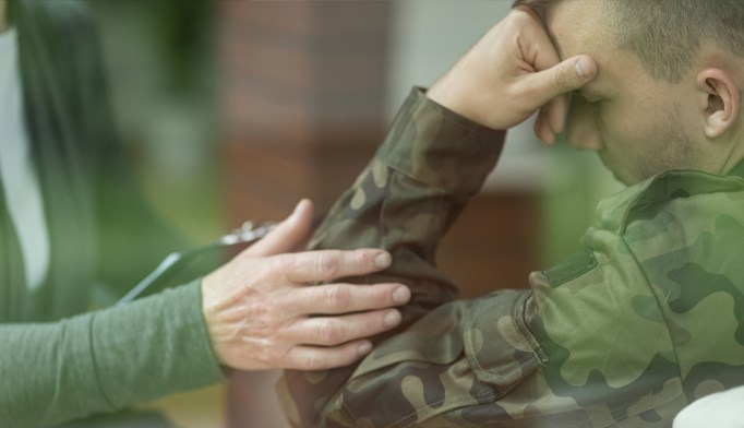36% of the soldiers suffered from PTSD and 32% had received ketamine.