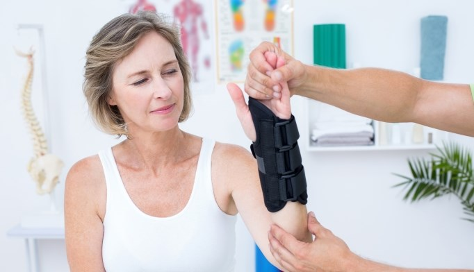 A woman presents with wrist pain after falling on her outstretched hand.
