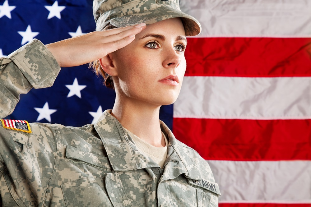 Military women seeking civilian men