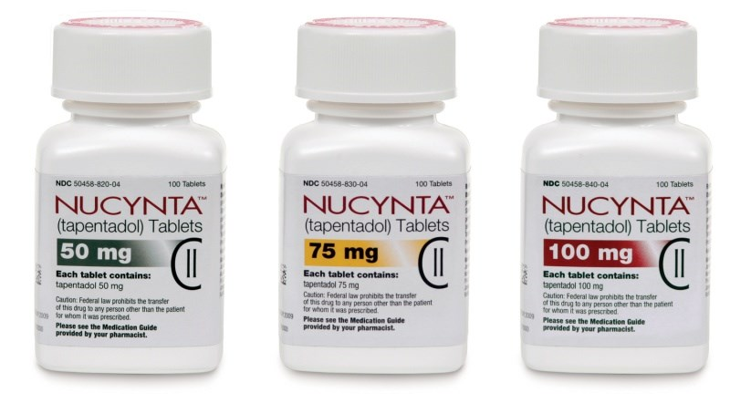Nucynta binds to mu-opioid receptors and inhibits norepinephrine reuptate