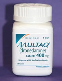 Drug treatment for irregular heartbeat