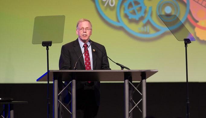 Jeffrey Katz, PA-C, DFAAPA, speaks at the AAPA 2015 meeting. Photo courtesy of AAPA