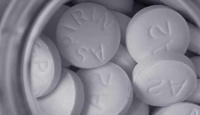 Aspirin significantly reduces the risk for secondary stroke
