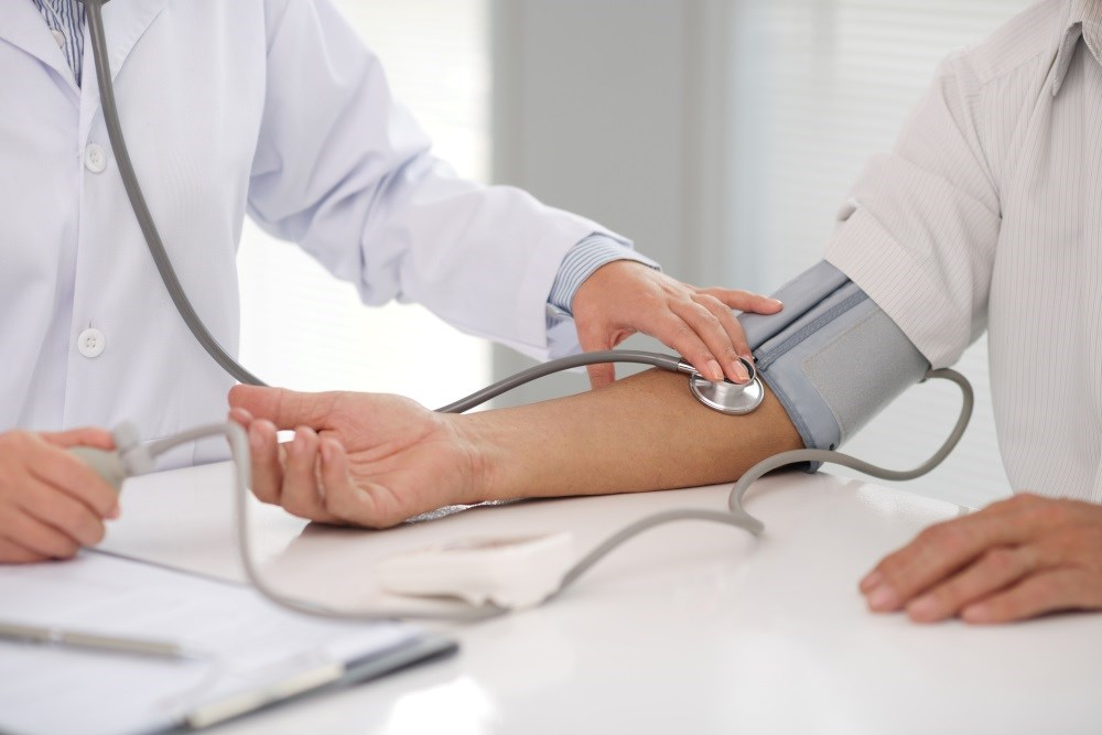 The estimated number of adults with elevated blood pressure has increased from 1975 to 2015.