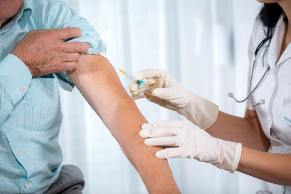 About 40% of people have reported receiving an influenza vaccine for the 2016 to 2017 season.