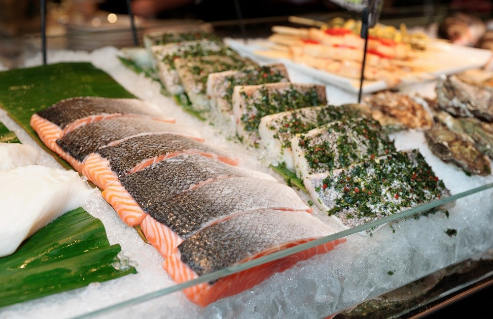 For adults, the recommended serving size of fish is 4 ounces, while servings for children should be smaller based on their age and calorie intake.