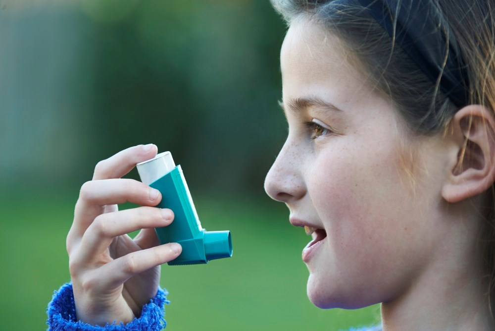 Asthma and BMI were significantly correlated; hay fever, allergic sensitization and BMI were not.