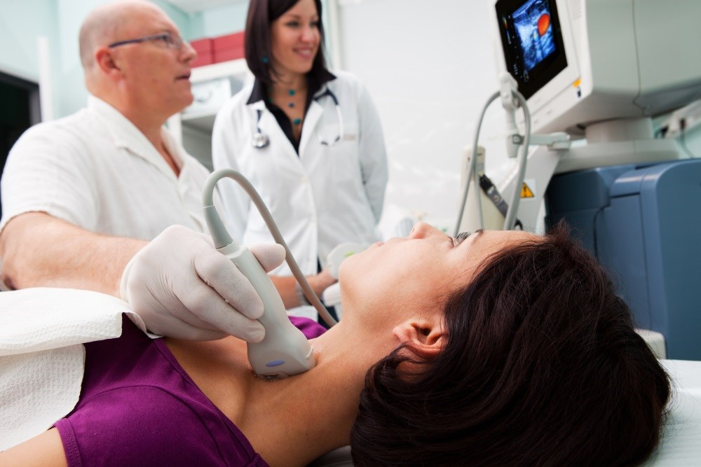 The USPSTF recommends against screening for thyroid cancer in asymptomatic adults.