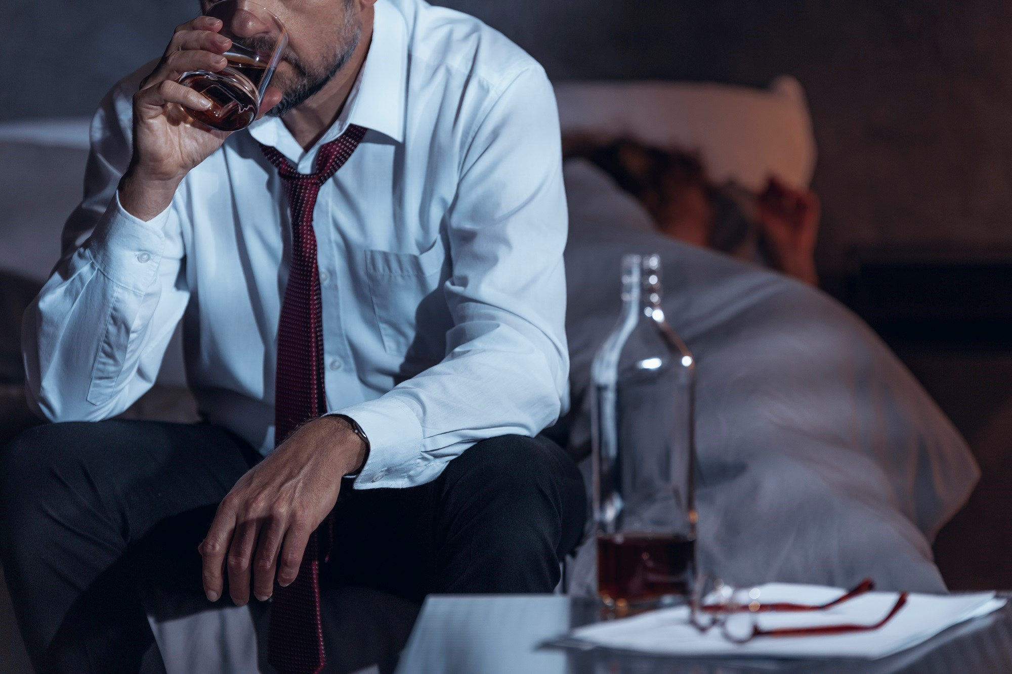 Using alcohol as a sleep aid can lead to alcoholism and maintenance insomnia.